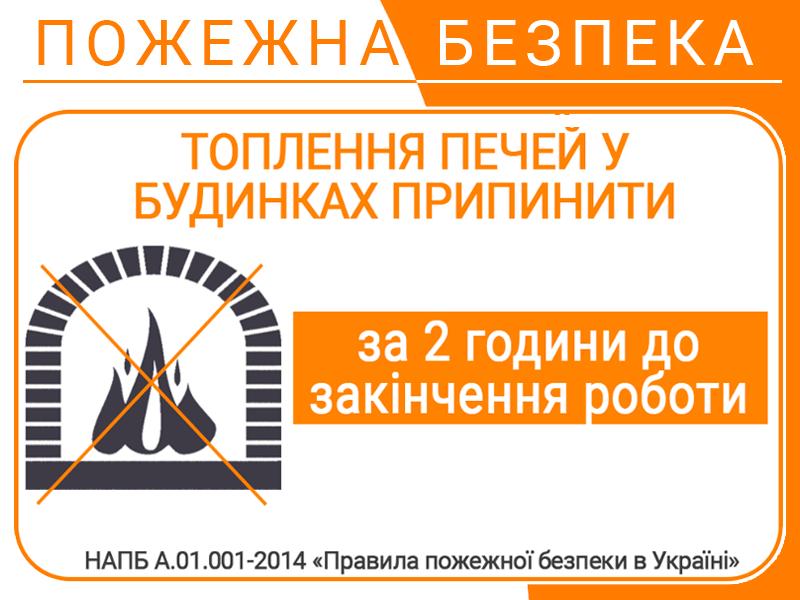 Вимоги пожежної безпеки до печей та котлів