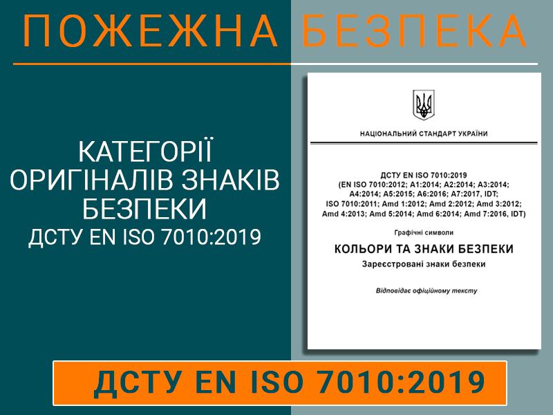 Категорії оригіналів знаків безпеки ДСТУ ЕN ІSО 7010:2019